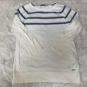 NEW Nautica Ladie's Striped 100% Cotton Sweater